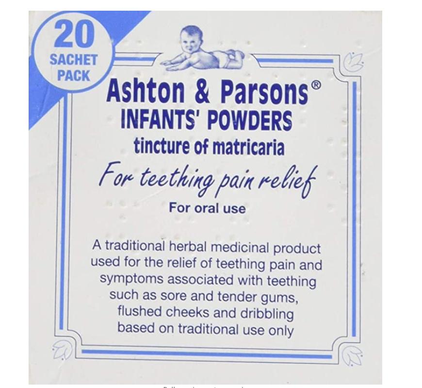 Ashton & Parsons Teething Powder 20 Sachets £2.55 prime / £7.04 non prime @ Amazon