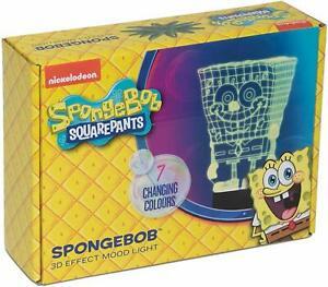 Nickleodeon Spongebob 3D Effect Mood Light, Multi-Colour - £8.79 @ imagifts4u-uk / eBay