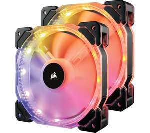 CORSAIR HD Series 140 mm Case Fan - Twin Pack, RGB LED from £44.99 @ Currys