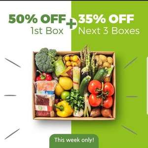 Combination deal between Amex & Hello Fresh. Use cashback & get £50 off 1st & 35% off next 3 boxes.