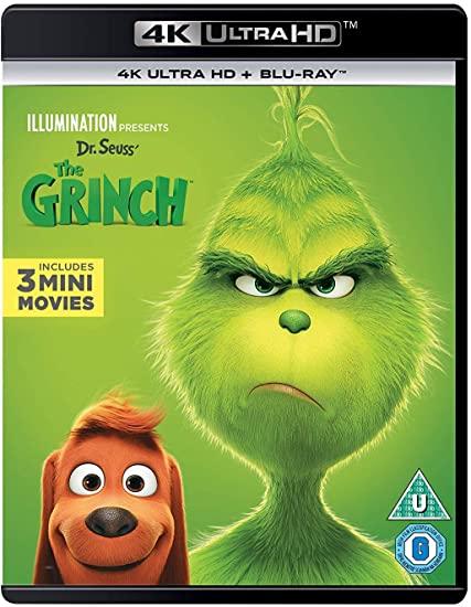 The Grinch (4K UltraHD + Blu-ray) [2018] [Region Free] £9.99 prime / £12.98 nonprime @ amazon.co.uk