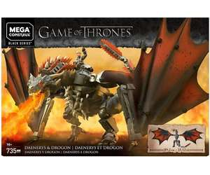 Mega Construx - Game of Thrones Daenerys and Drogon Construction Set - £32.99 Delivered @ BargainMax