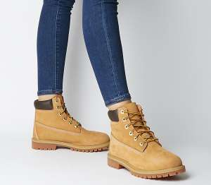Timberland Women's 6 Inch Premium Waterproof Lace-up Boots (Size 3.5) - £54 Delivered @ Amazon