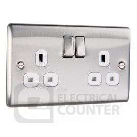 BG Nexus Stainless Steel Double Plug Socket Switched (2 Gang), £4.39 delivered at Electrical Counter