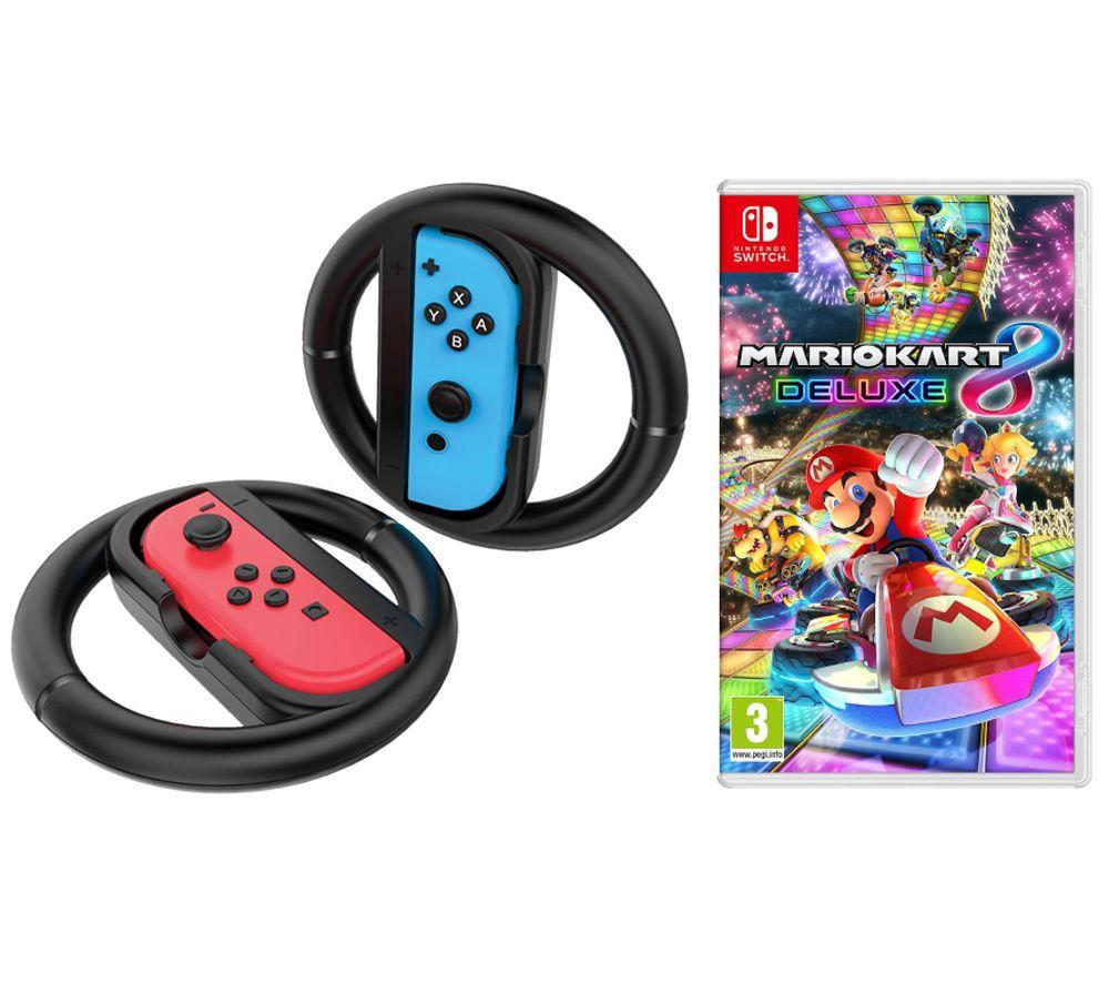 Mario Kart 8 Deluxe Nintendo Switch: Game & Joy-Con Racing Wheel Bundle - £44.99 @ Currys PC World