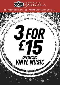 3 Vinyl records for £15 at 365games.co.uk
