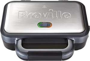 Breville Deep Fill Sandwich Toaster and Toastie Maker with Removable Plates, Non-Stick, Stainless Steel [VST041] - £25 @ Amazon