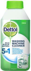 Dettol Washing Machine Cleaner (250 ml) £2.50 (Prime) / £6.99 (non Prime) £2.38 with S&S at Amazon