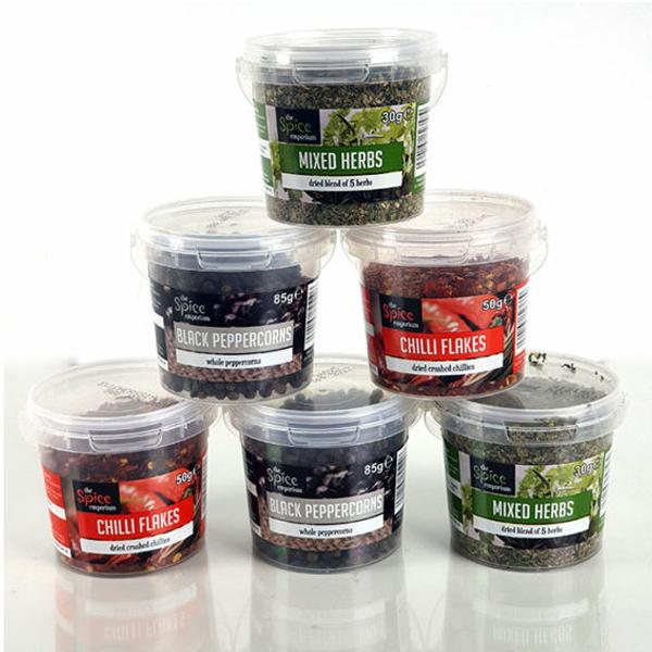 Spice Emporium Seasoning Bundle - 2x 50g Chilli Flakes, 2x 85g Whole Black Peppercorns & 2x 30g Mixed Herbs - £8 Delivered @ Yankee Bundles