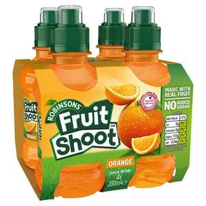 Robinsons Fruit Shoot Orange Juice Drink 4 x 200ml - £1 @ Iceland