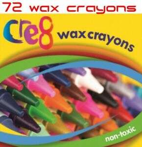 72x Coloured Wax Crayons - Childrens Assorted Colouring School Activities Crafts - £3.49 @ kingofthebargainsuk / eBay