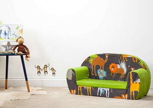 Children's Soft Foam Toddlers Sofa 2 Seater Seat Nursery Baby Settee 2 Designs - £39.97 @ loft_25 / eBay