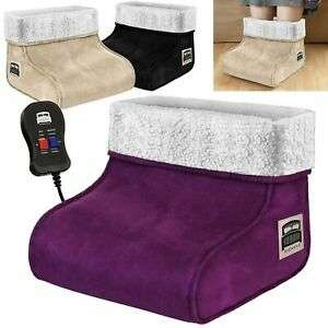 Electric Heated Foot Warmer Feet Massager Comfort Fleece Suede Relaxing - £8.99 @ unlimitedseller / eBay