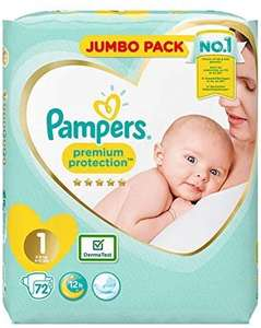 Pampers size 1 (144) for £12.86 (+£4.49 Non Prime) or (£12.22 with s&s) @ Amazon