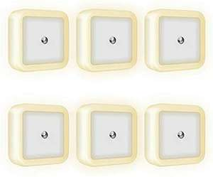 6 Pack LED night lights, £7.99 (+£4.49 Non Prime) Sold by VINTONEY Deals and Fulfilled by Amazon