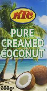 KTC Creamed Coconut 200 g (Pack of 12) £6 (+£4.49 Non Prime) at Amazon (£5.70 with S&S) (also 40 for £20)