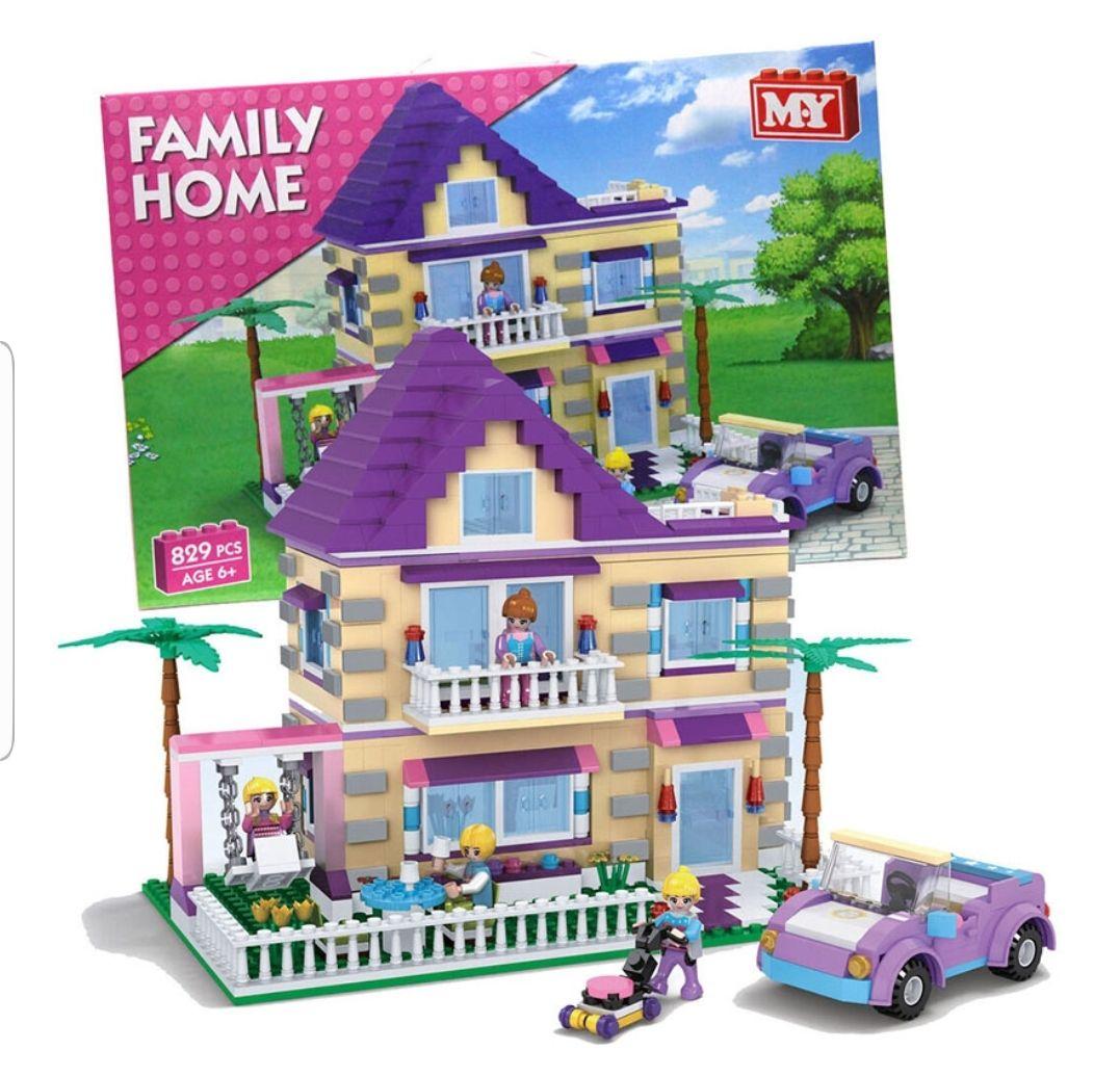 M.Y Family Home Kids Toy Building Bricks Set (829 Pieces) £15.00 at Yankee Bundles