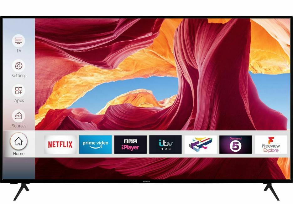Techwood 65AO9UHD 65 Inch TV Smart 4K Ultra HD LED Freeview HD 3 HDMI Dolby £426.55 @ AO Ebay