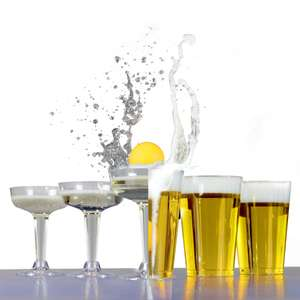 Party Drinking Pong Kit | Beer & Prosecco Glasses (24) £3.99 Delivered using code @ Roov