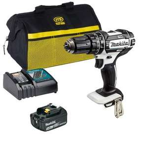 Makita DHP482W 18v LXT Combi Drill with 1 x 3Ah Battery, Charger and Bag - £95.99 + £5.00 Delivery @ ITS