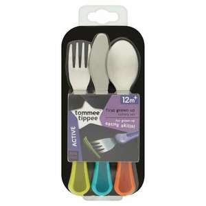 Tommee Tippee Explora First Grown Up Cutlery Set £2.70 @ Tesco (Min order £40 & Upto £4 Delivery)
