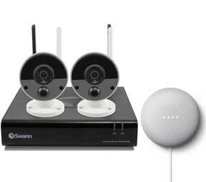 SWANN NVW-490 4-Channel Full HD 1080p Security System & Nest Mini (2nd Gen) Bundle £219.99 @ Curry's/PCWorld