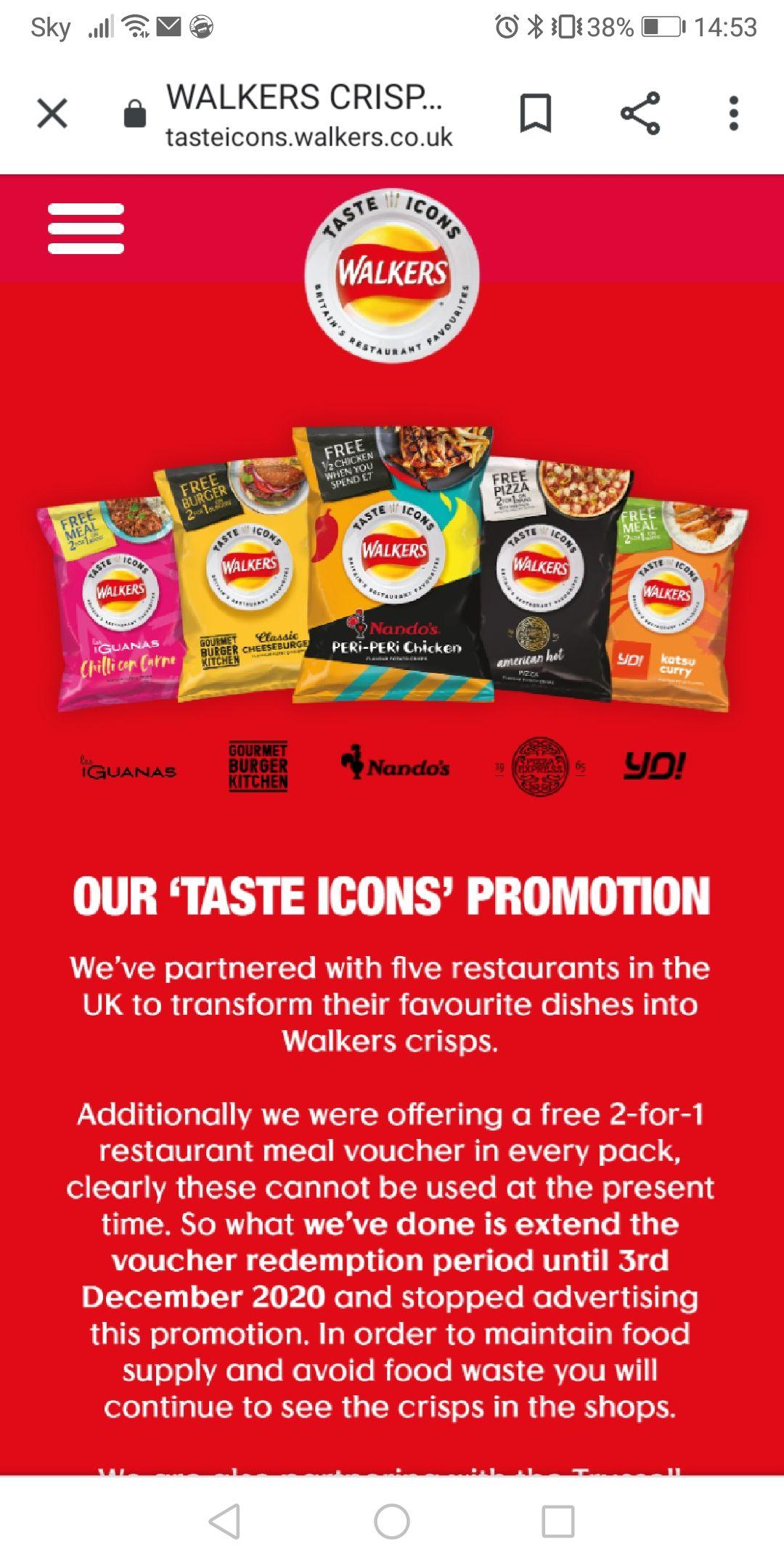 Walkers new flavours 5x25g £1 @ Tesco, read below