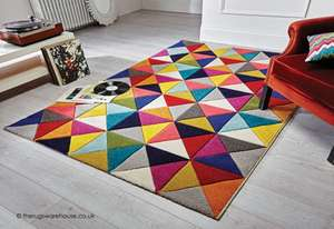 Samba Spectrum Rug - 2ft7' x 5ft £39.95 / 2ft x 7ft7' £45.05 / 4ft x 5ft7' £58.65 / 5ft3' x 7ft7' £102 delivered @ therugswarehouse