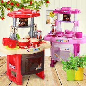 Kids Children's Kitchen Play set Pink or Red £12.95 @ homeandgardenproductsuk / eBay
