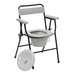 Drive Folding Steel Commode Chair with Backrest Portable Toilet Mobility Aid - £29.99 @ livewell-today / eBay