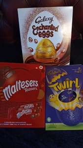 Easter Eggs (Large Galaxy, Malteesers and Cadbury) 9p in Aldi (Kingston upon Thames)