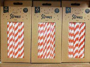 Eco Friendly Paper Straws 50 Pack - £1.99 @ dvdbayuk_outlet / eBay