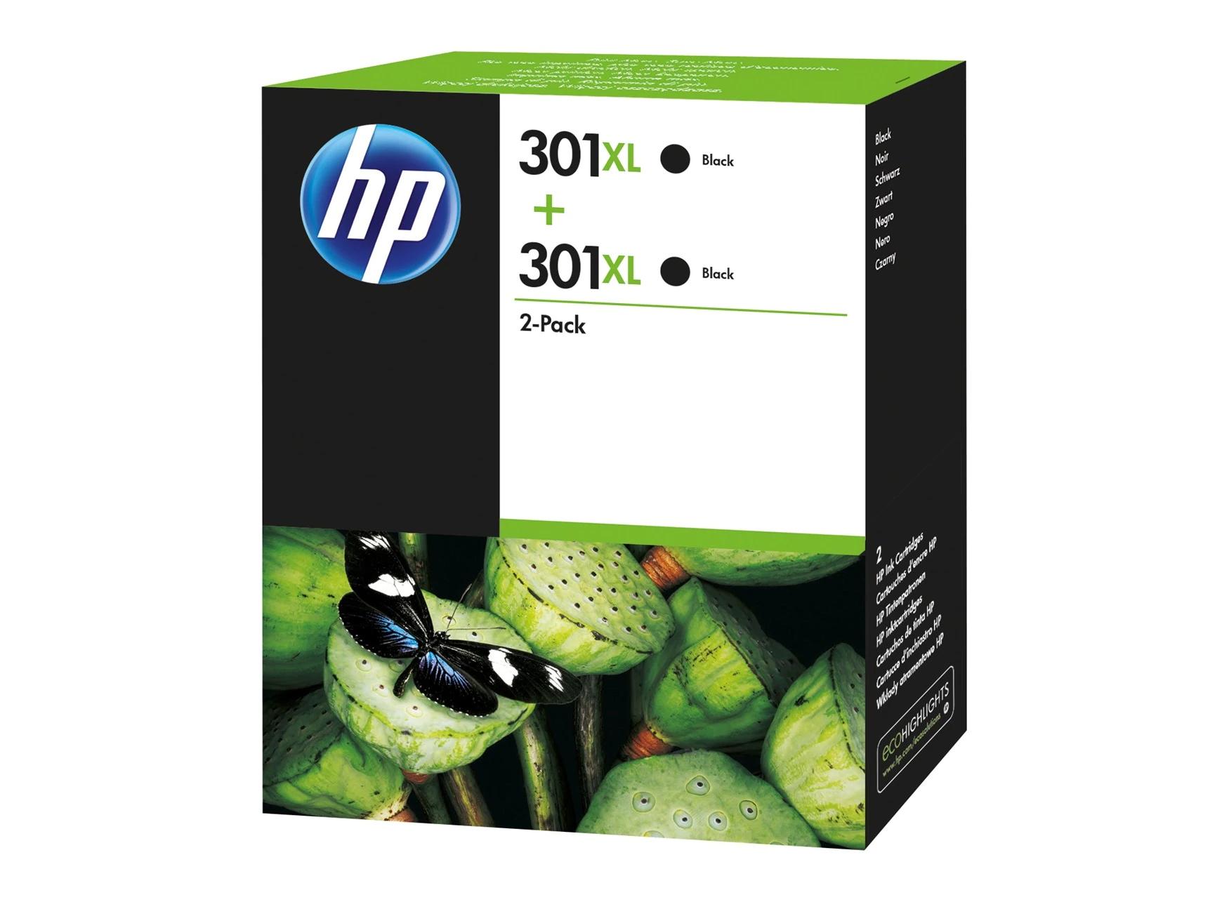 HP 301XL High Yield Ink Cartridge Twin Pack D8J45AE, Black £43.67 @ Staples UK