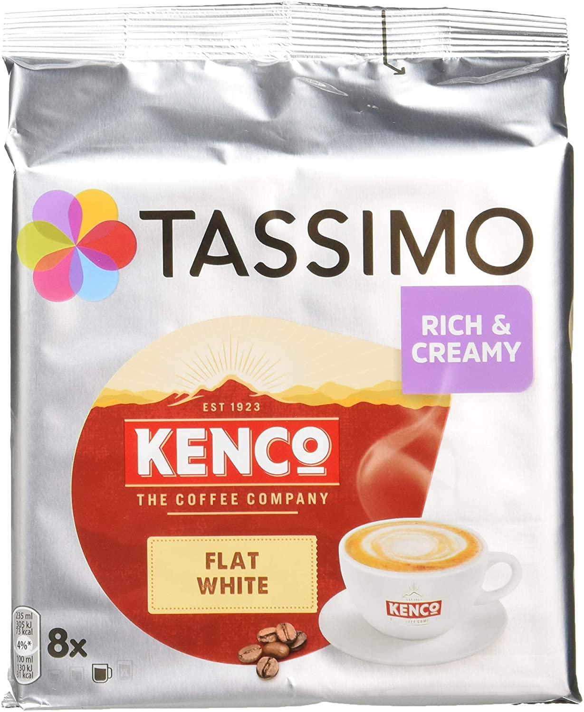 Tassimo Kenco Flat White Coffee Pods (Pack of 5) £14.21 prime / £18.70 Non Prime at Amazon