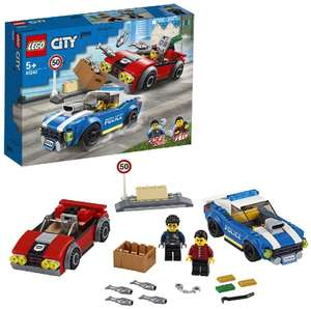 LEGO City 60242 Police Highway Arrest £12.60 (Prime) £17.09 (non Prime) at Amazon