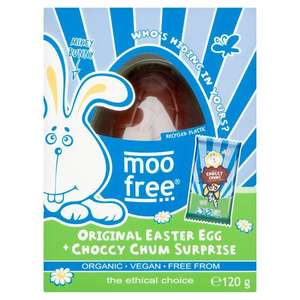 Moo Free Original Easter Egg 120g at sainsbury's (Fulham) - 10p