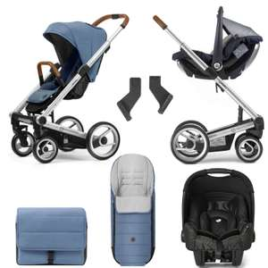 Mutsy I2 Heritage Travel System (with Gemm car seat, raincover, footmuff, changing bag and Maxi Cosi adapters) - £399.95 delivered