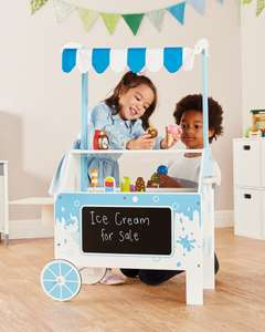 Wooden Ice Cream Cart with accessories - £59.99 delivered (Online only) @ ALDI