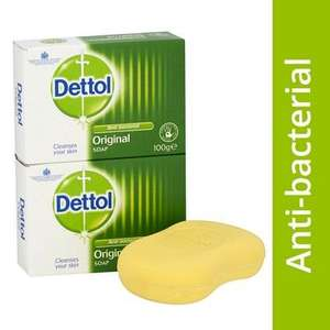 Dettol original anti-bacterial soap - 2 x 100g £5.44 delivered @ Lloyds Pharmacy