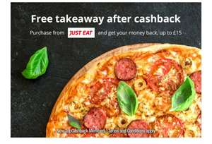 Free £15 takeaway cashback on Just Eat for new customers @ Topcashback