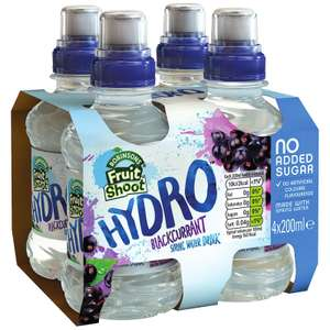 Robinson's Hydro Blackcurrant 4x 200ml bottles - £1 @ Quality Save (Prestwich)