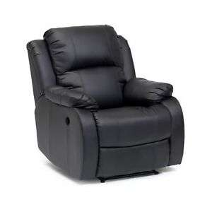 Ex-Demo Drive Clifton Bonded Leather El Recliner Riser Black Armchair - £129 @ livewell-today / eBay