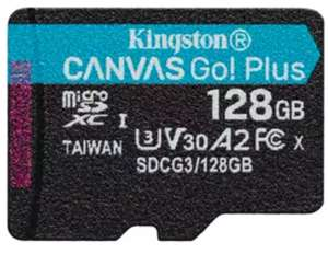 Kingston Canvas Go! Plus 128GB Class 10 Micro SD UHS-I, U3, V30, A2, + Adapter, 170/90MB/s R/W (Life time Warranty) - £19.99 @ MyMemory