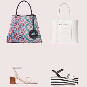 £50 off when you spend £200 / £100 off when you spend £300 on Full Price items using code + Free Delivery @ Kate Spade NY