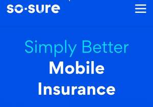 Get £10 off policy excess with So Sure Mobile phone insurance