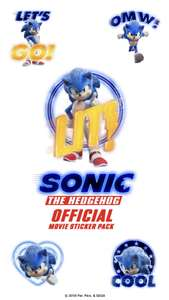 Sonic the Movie stickers FREE for iOS iMessage @Appstore