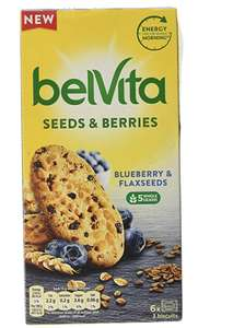 Belvita Blueberry and Flax Seed Biscuits 270 g (4 Packs) £5.56 prime (+£4.49 NP) @Amazon.