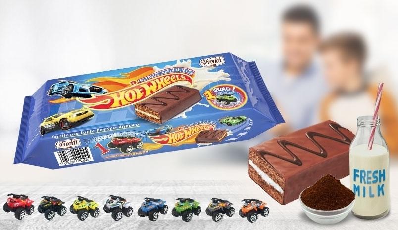 Hot Wheels Cake Bars 9 pack + free Hot Wheels toy £1.39 @ Home Bargains