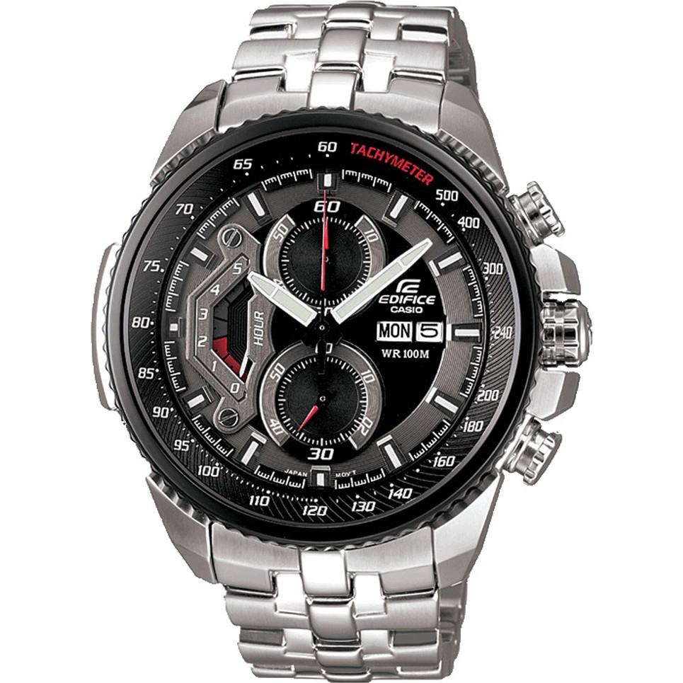 Casio Mens Edifice Black Steel Chronograph Watch EF-558D-1AVEF - £99 @ Watches2U