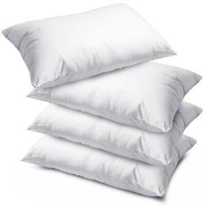 4 X Luxury Deluxe Pillows - Super Bounce Back Pillows Hollow Fibre Filled Pillow - £12.99 @ fusion_online / eBay